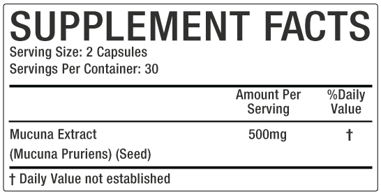 mucuna Supplement Facts